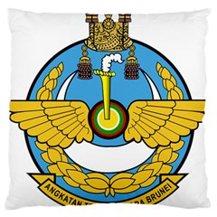 Emblem Of Royal Brunei Air Force Large Cushion Case (one Side) by abbeyz71
