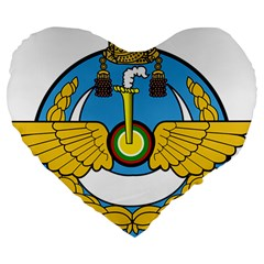 Emblem Of Royal Brunei Air Force Large 19  Premium Heart Shape Cushions by abbeyz71