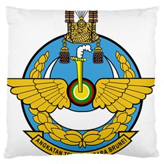 Emblem Of Royal Brunei Air Force Large Flano Cushion Case (two Sides) by abbeyz71