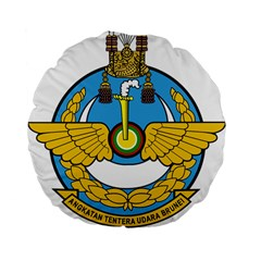 Emblem Of Royal Brunei Air Force Standard 15  Premium Flano Round Cushions by abbeyz71