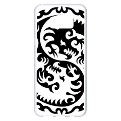 Ying Yang Tattoo Samsung Galaxy S8 Plus White Seamless Case
