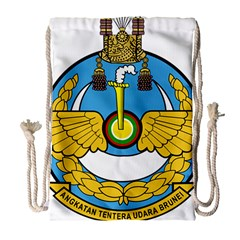 Emblem Of Royal Brunei Air Force Drawstring Bag (large) by abbeyz71