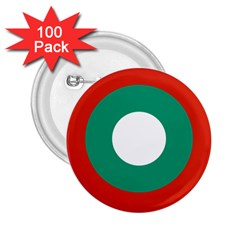 Bulgarian Air Force Roundel 2 25  Buttons (100 Pack)  by abbeyz71