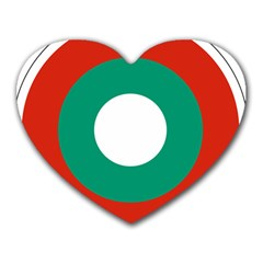 Bulgarian Air Force Roundel Heart Mousepads by abbeyz71