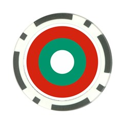 Bulgarian Air Force Roundel Poker Chip Card Guard (10 Pack) by abbeyz71