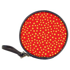 Yellow Stars Red Background Classic 20 Cd Wallets