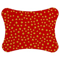 Yellow Stars Red Background Jigsaw Puzzle Photo Stand (bow)
