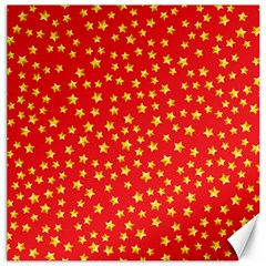 Yellow Stars Red Background Canvas 20  X 20