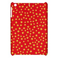 Yellow Stars Red Background Apple Ipad Mini Hardshell Case