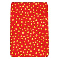 Yellow Stars Red Background Flap Covers (l)  by Sapixe