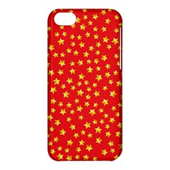 Yellow Stars Red Background Apple Iphone 5c Hardshell Case by Sapixe