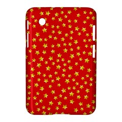Yellow Stars Red Background Samsung Galaxy Tab 2 (7 ) P3100 Hardshell Case