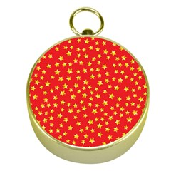 Yellow Stars Red Background Gold Compasses