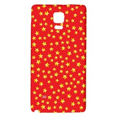 Yellow Stars Red Background Galaxy Note 4 Back Case by Sapixe
