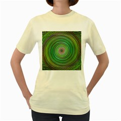 Wire Woven Vector Graphic Women s Yellow T Shirt