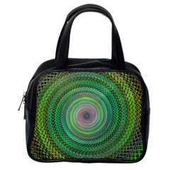 Wire Woven Vector Graphic Classic Handbags (one Side)