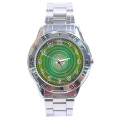 Wire Woven Vector Graphic Stainless Steel Analogue Watch by Sapixe