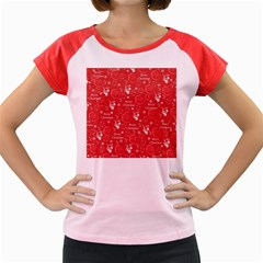 Santa Christmas Collage Women s Cap Sleeve T Shirt