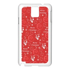 Santa Christmas Collage Samsung Galaxy Note 3 N9005 Case (white) by Sapixe