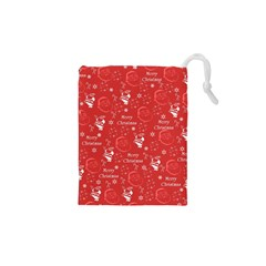 Santa Christmas Collage Drawstring Pouches (xs)  by Sapixe