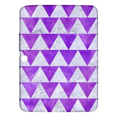 Triangle2 White Marble & Purple Watercolor Samsung Galaxy Tab 3 (10 1 ) P5200 Hardshell Case  by trendistuff