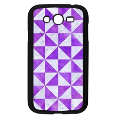 Triangle1 White Marble & Purple Watercolor Samsung Galaxy Grand Duos I9082 Case (black) by trendistuff