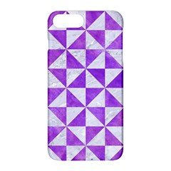 Triangle1 White Marble & Purple Watercolor Apple Iphone 8 Plus Hardshell Case by trendistuff