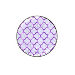 Tile1 White Marble & Purple Watercolor (r) Hat Clip Ball Marker (10 Pack) by trendistuff