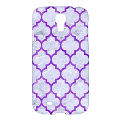 Tile1 White Marble & Purple Watercolor (r) Samsung Galaxy S4 I9500/i9505 Hardshell Case by trendistuff