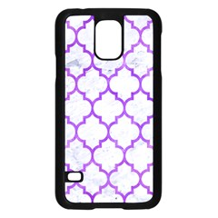 Tile1 White Marble & Purple Watercolor (r) Samsung Galaxy S5 Case (black) by trendistuff