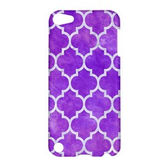 Tile1 White Marble & Purple Watercolor Apple Ipod Touch 5 Hardshell Case by trendistuff