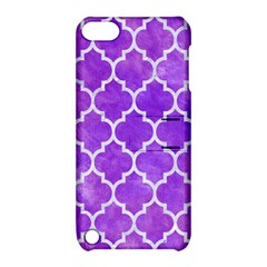 Tile1 White Marble & Purple Watercolor Apple Ipod Touch 5 Hardshell Case With Stand by trendistuff