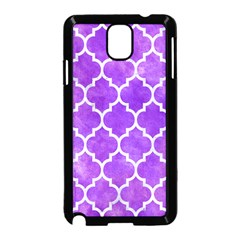 Tile1 White Marble & Purple Watercolor Samsung Galaxy Note 3 Neo Hardshell Case (black) by trendistuff