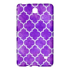 Tile1 White Marble & Purple Watercolor Samsung Galaxy Tab 4 (8 ) Hardshell Case