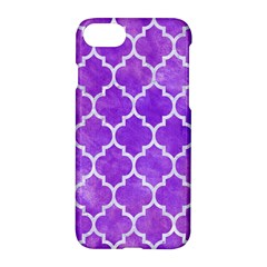 Tile1 White Marble & Purple Watercolor Apple Iphone 8 Hardshell Case by trendistuff