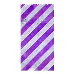 Stripes3 White Marble & Purple Watercolor (r) Shower Curtain 36  X 72  (stall)  by trendistuff