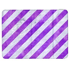 Stripes3 White Marble & Purple Watercolor (r) Samsung Galaxy Tab 7  P1000 Flip Case by trendistuff
