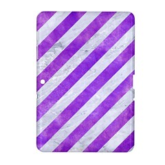 Stripes3 White Marble & Purple Watercolor (r) Samsung Galaxy Tab 2 (10 1 ) P5100 Hardshell Case  by trendistuff