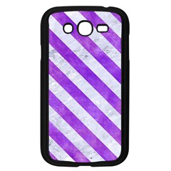 Stripes3 White Marble & Purple Watercolor Samsung Galaxy Grand Duos I9082 Case (black) by trendistuff