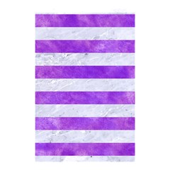 Stripes2white Marble & Purple Watercolor Shower Curtain 48  X 72  (small)  by trendistuff