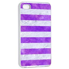 Stripes2white Marble & Purple Watercolor Apple Iphone 4/4s Seamless Case (white) by trendistuff
