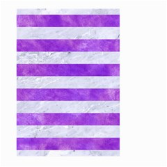 Stripes2white Marble & Purple Watercolor Large Garden Flag (two Sides) by trendistuff