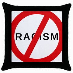 No Racism Throw Pillow Case (black) by demongstore
