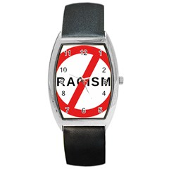 No Racism Barrel Style Metal Watch by demongstore