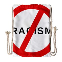 No Racism Drawstring Bag (large) by demongstore