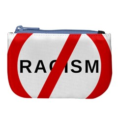No Racism Large Coin Purse by demongstore