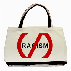 2000px No Racism Svg Basic Tote Bag by demongstore