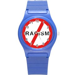 2000px No Racism Svg Round Plastic Sport Watch (s) by demongstore