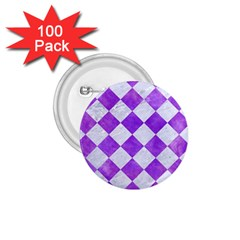 Square2 White Marble & Purple Watercolor 1 75  Buttons (100 Pack)  by trendistuff