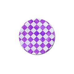 Square2 White Marble & Purple Watercolor Golf Ball Marker (10 Pack) by trendistuff